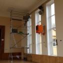Mytí oken z hliníkové věže